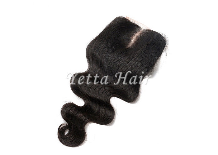 Free Parting / Mid Parting Lace Top Closure Remy Hair , Body Wave Brazilian Virgin Hair