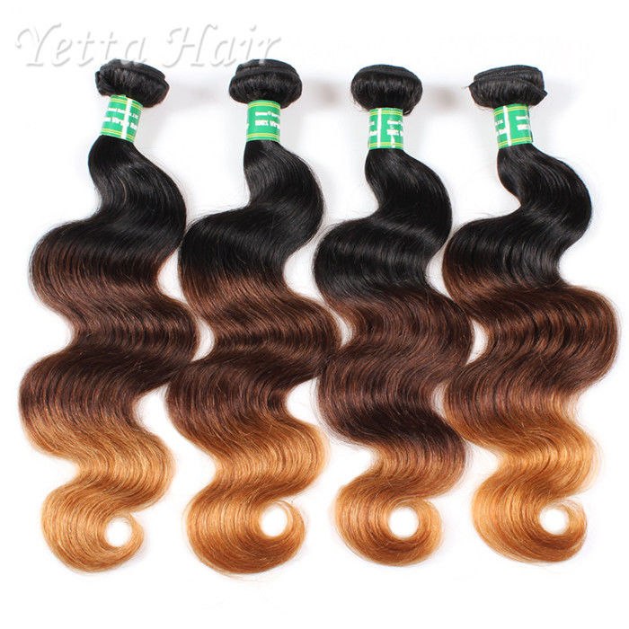 18 Inch Colorful Peruvian 7A Virgin Hair Weave Without Chemical