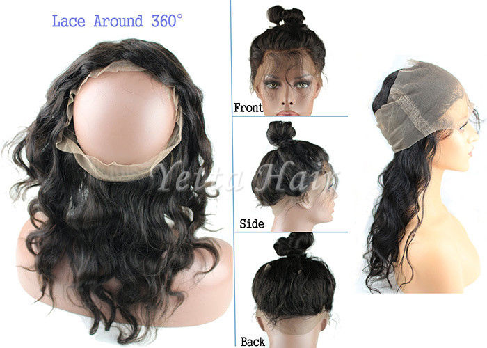 360 Lace Frontal Lace Top Closure Virgin Hair Body Wave Natural Hairline
