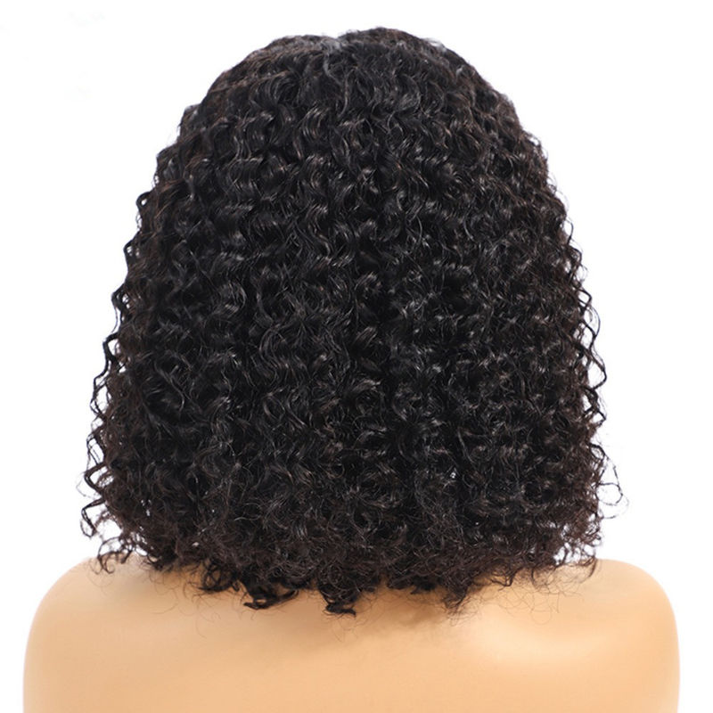 13X4 Lace Front Human Hair Wigs For Black Ladys Extensions Kinky Curl